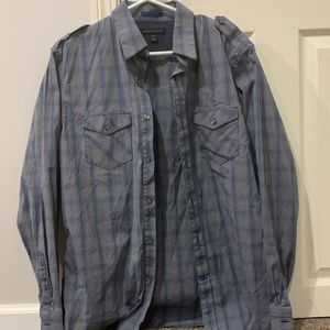Banana Republic long sleeve blue button down shirt